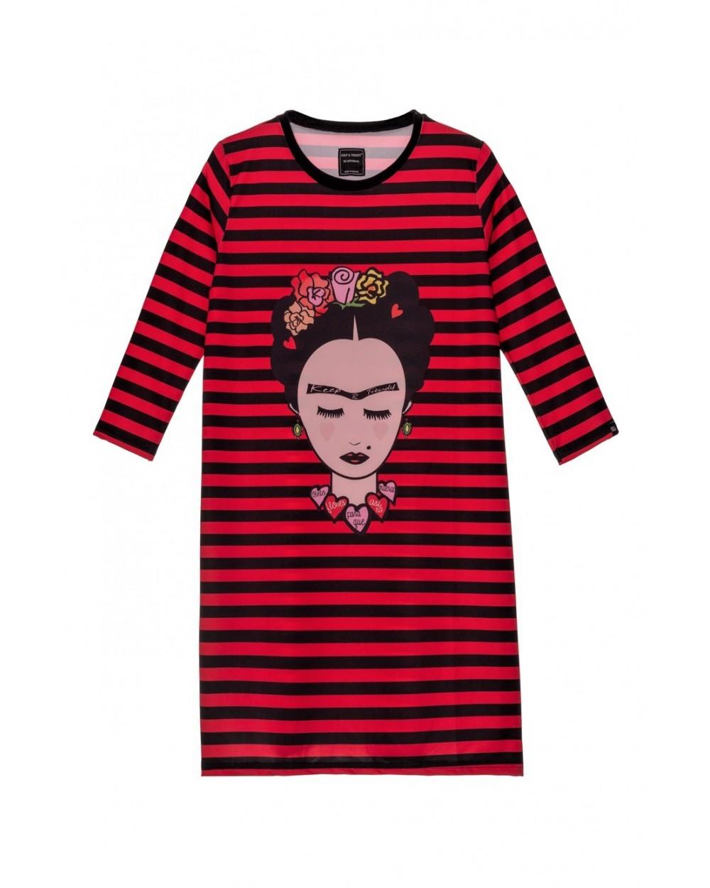 Vestido Frida Pinto Flores Keep Trendy