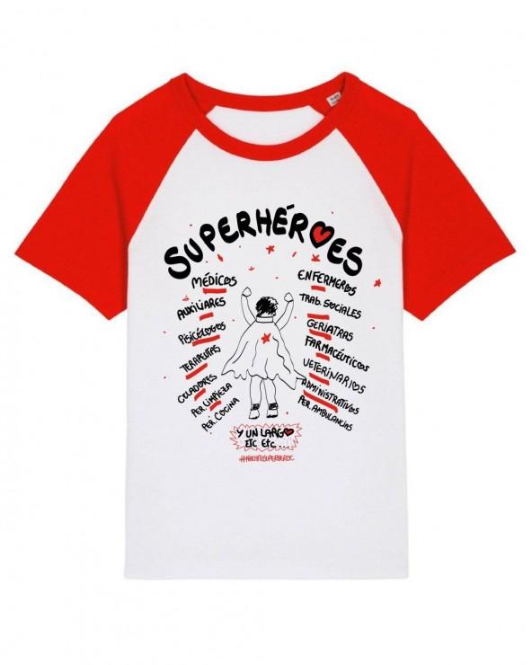 Camiseta Superhéroes Unisex Benéfica - Talla Infantil