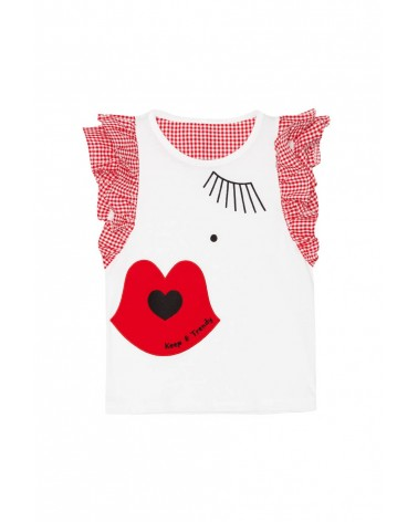 CAMISETA KEEP VICHY ROJA