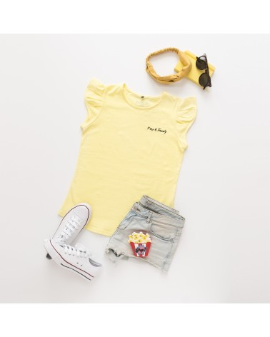 Camiseta Keep Básica - Amarilla