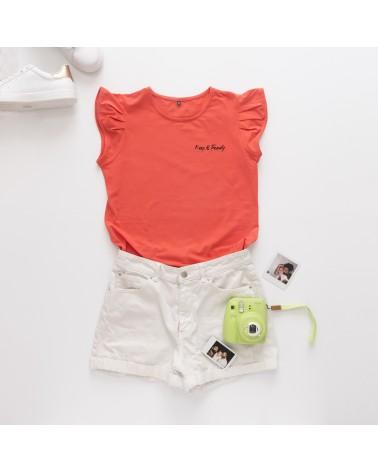 Camiseta Keep Básica - Coral