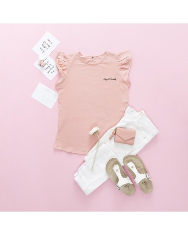 Camiseta Keep Básica - Rosa