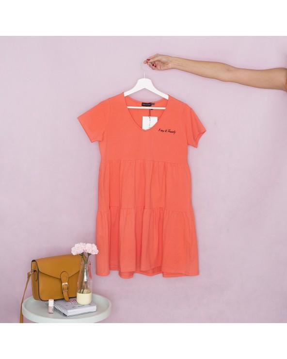 Vestido Keep Básico - Coral