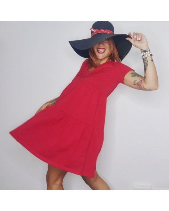 Vestido Keep Básico - Rojo