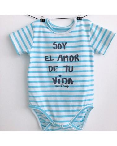 BODY SOY EL AMOR DE TU VIDA AZUL