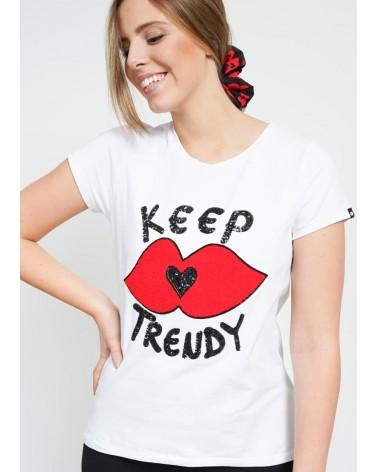 Cami logo Keep Lovers blanca