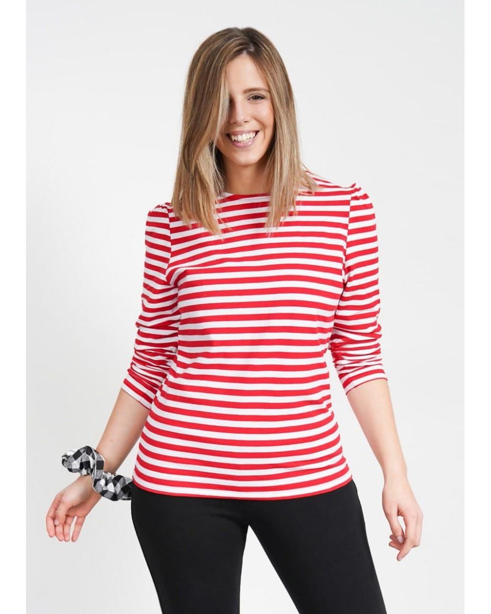 Camiseta Básica Rayas Keep Lovers roja