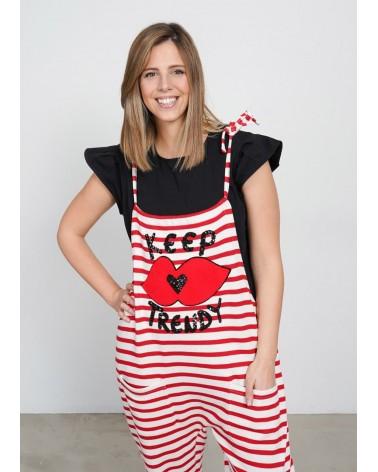 Macaco Rayas Keep Lovers - rojo
