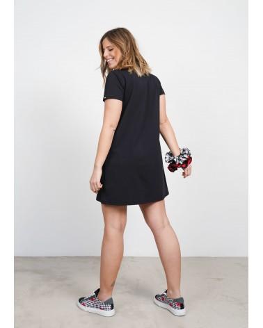 Vestido Cuello Redondo Keep Lovers Negro