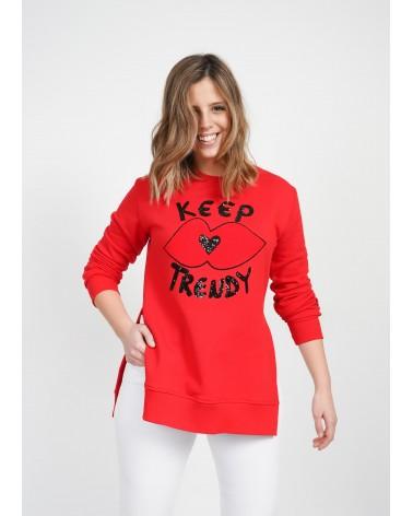 Sudadera Keep Lovers Roja