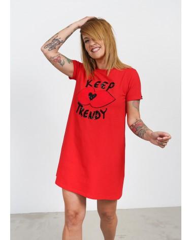 Vestido cuello redondo Keep lovers rojo