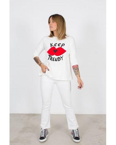 Camiseta Trapecio Keep Lovers Beige