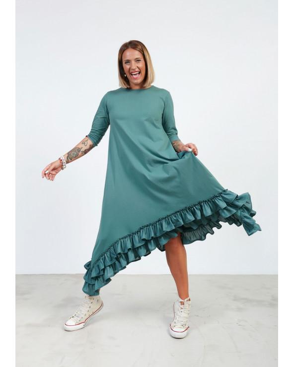 Vestido Básico Verde Índigo