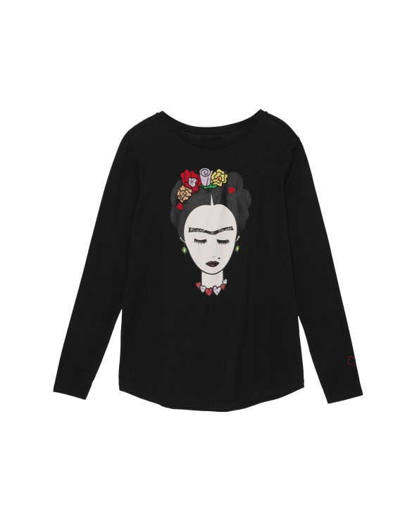 CAMISETA FRIDA MANGA LARGA